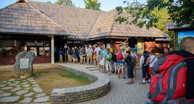 national park plitvice lakes croatia entrance 1